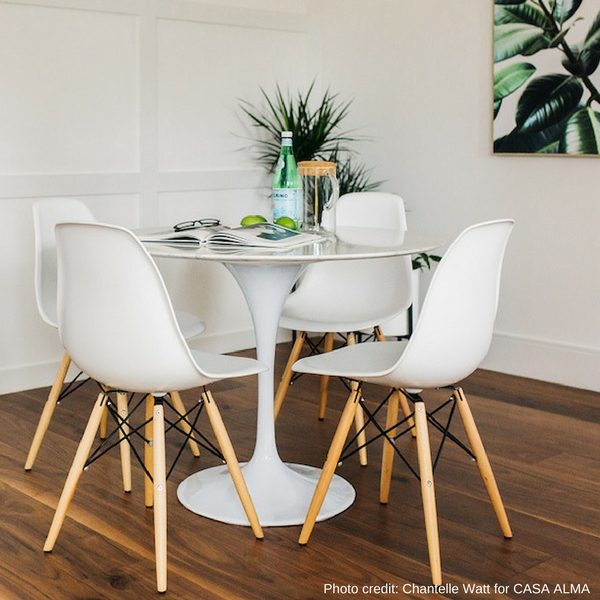 Flute Dining Table Round – Condo Size