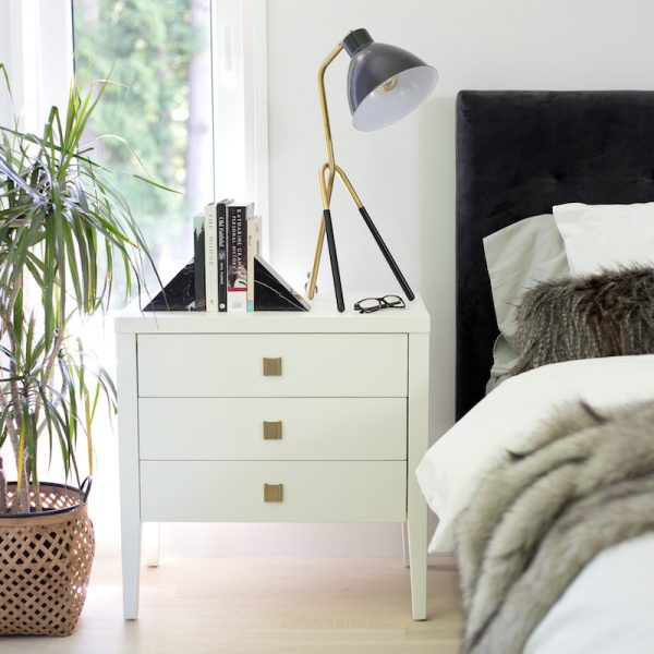 HARA ACCENT TABLE - 3 DRAWER DRESSER - WHITE LIFESTYLE