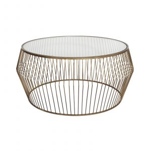 Cyclone Wire Coffee Table – Light Gold