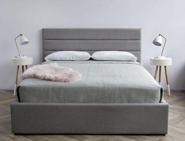 Justin King Storage Bed – Greige