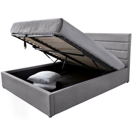 Justin King Storage Bed – Greige