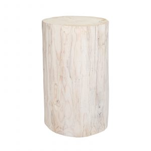 Salish Stump – White Round 21″