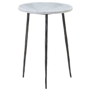 Kaii End Table - White Tall
